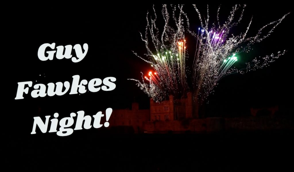 Multi-coloured fireworks exploding in the night's sky over Leed's castle