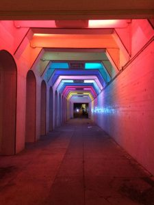 This is called Light Rails. It is an art piece installed. It is downtown Birmingham. It's a pretty cool spot.