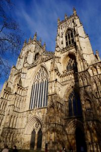 A giant stone cathedral in York, England