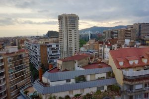The district of Les Corts in Barcelona, Spain