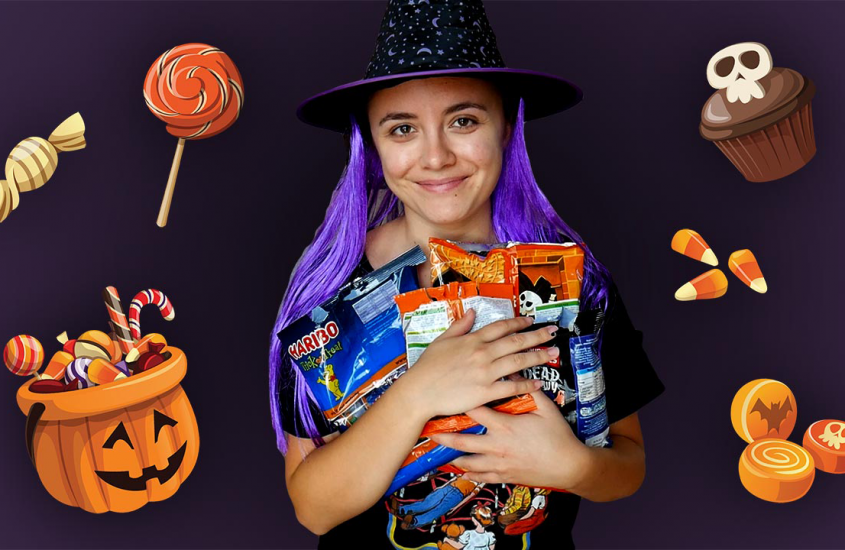 Foreigner tries British Halloween sweets